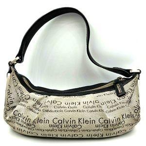 Calvin Klein Small Hobo Bag Purse Leather Handle